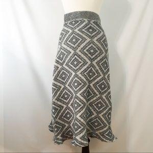Moth Anthropologie M  Maxi Skirt Geometric Print